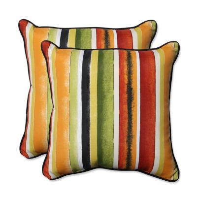 Pillow Perfect Dina Square Outdoor Pillow - Set of2