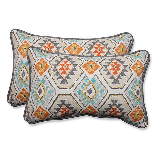 Pillow Perfect Eresha Rectangular Outdoor Pillow -Set of 2