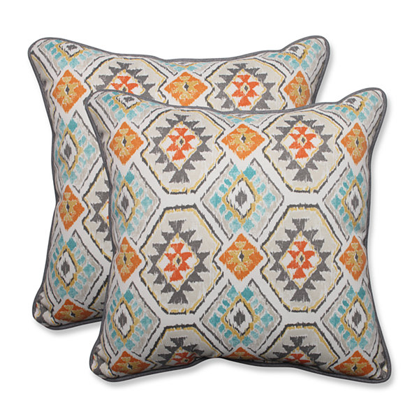 Pillow Perfect Eresha Square Outdoor Pillow - Setof 2
