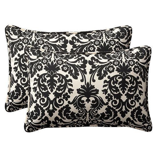Pillow Perfect Essence Rectangular Outdoor Pillow- Set of 2