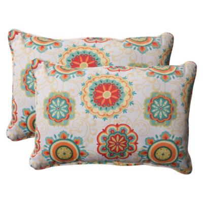 Pillow Perfect Farrington Rectangular Outdoor Pillow - Set of 2