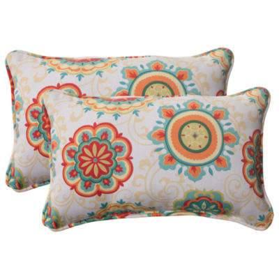 Pillow Perfect Farrington Rectangular Outdoor Pillow - Set of 2