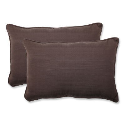 Pillow Perfect Forsyth Rectangular Outdoor Pillow- Set of 2