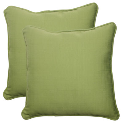 Pillow Perfect Forsyth Square Outdoor Pillow - Setof 2