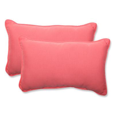 Pillow Perfect Fresco Rectangular Outdoor Pillow -Set of 2