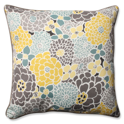 Pillow Perfect Full Bloom Square Outdoor /OutdoorFloor Pillow