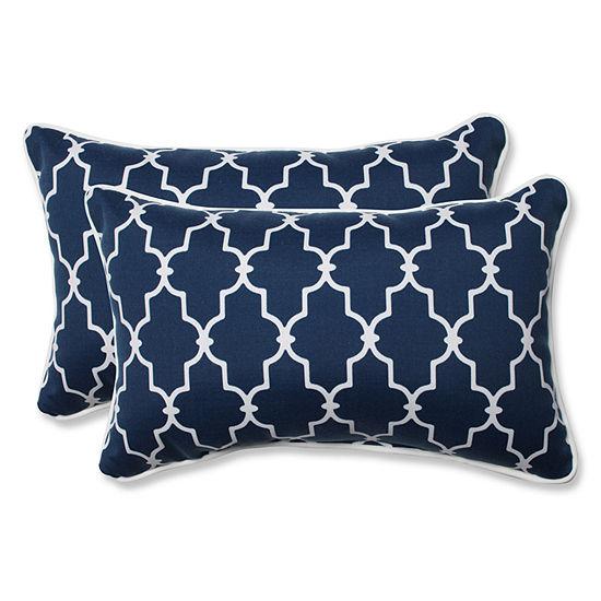 Pillow Perfect Garden Gate Rectangular Outdoor Pillow - Set of 2