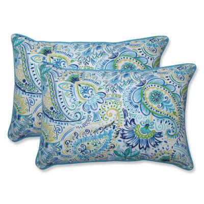 Pillow Perfect Gilford Rectangular Outdoor Pillow- Set of 2
