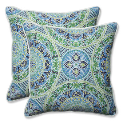 Pillow Perfect Delancey Square Outdoor Pillow - Set of 2