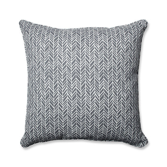 Pillow Perfect Herringbone Square Outdoor/OutdoorFloor Pillow