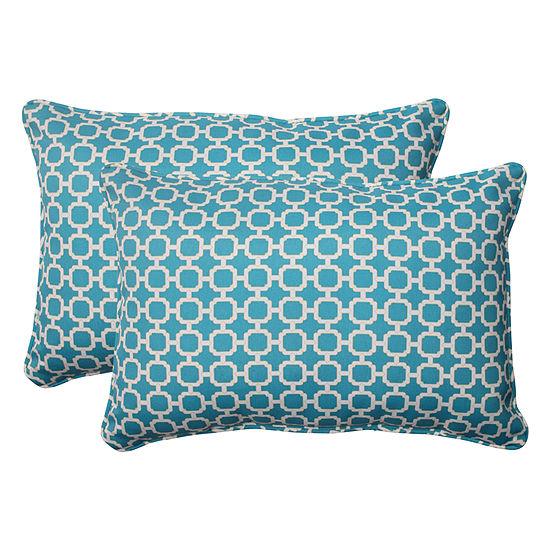 Pillow Perfect Hockley Rectangular Outdoor Pillow- Set of 2