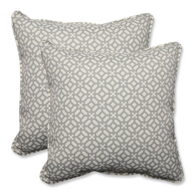 Pillow Perfect In The Frame Square Outdoor Pillow- Set of 2