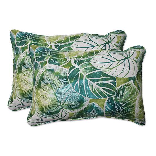 Pillow Perfect Key Cove Rectangular Outdoor Pillow- Set of 2
