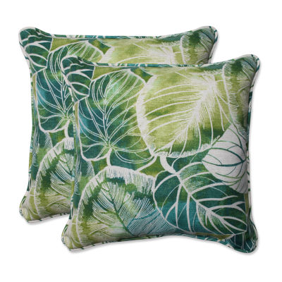 Pillow Perfect Key Cove Square Outdoor Pillow - Set of 2