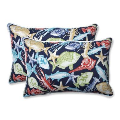 Pillow Perfect Keyisle Rectangular Outdoor Pillow- Set of 2