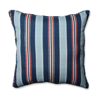 Pillow Perfect Kingston Stripe Arbor Square Outdoor Floor Pillow