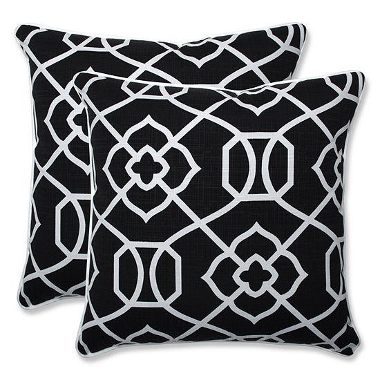 Pillow Perfect Kirkland Square Outdoor Pillow - Set of 2