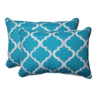 Pillow Perfect Kobette Rectangular Outdoor Pillow- Set of 2