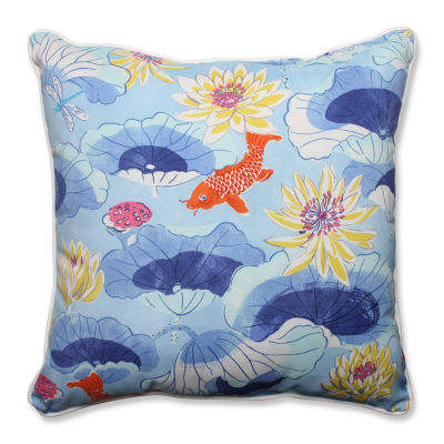 Pillow Perfect Lotus Lake Square Outdoor Floor Pillow