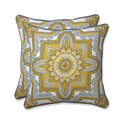 Pillow Perfect Malacca Square Outdoor Pillow - Setof 2