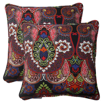 Pillow Perfect Marapi Square Outdoor Pillow - Setof 2