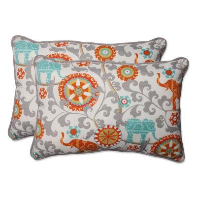 Pillow Perfect Menagerie Rectangular Outdoor Pillow - Set of 2