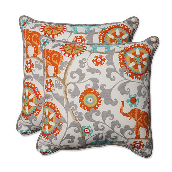 Pillow Perfect Menagerie Square Outdoor Pillow - Set of 2
