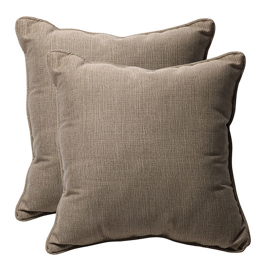 Pillow Perfect Monti Square Outdoor Pillow - Set of 2