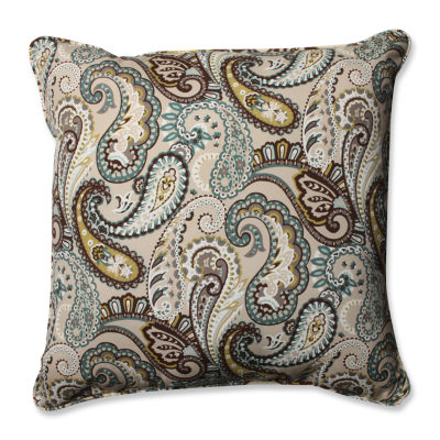 Pillow Perfect Tamara Paisley Square Outdoor FloorPillow