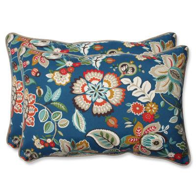 Pillow Perfect Telfair Rectangular Outdoor Pillow- Set of 2