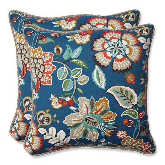 Pillow Perfect Telfair Square Outdoor Pillow - Setof 2
