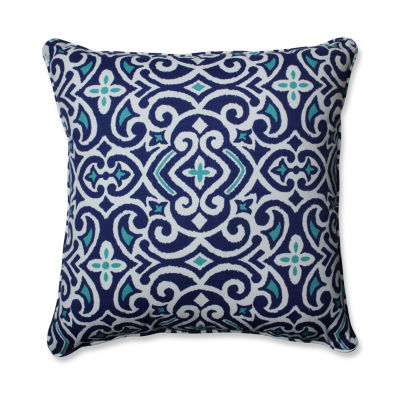 Pillow Perfect New Damask Square Outdoor Floor Pillow