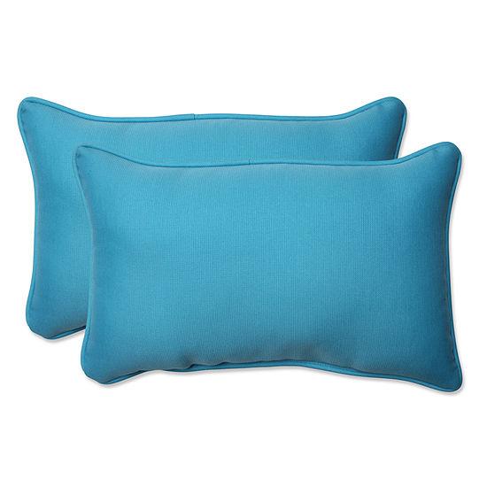 Pillow Perfect Veranda Rectangular Outdoor Pillow- Set of 2