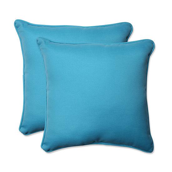 Pillow Perfect Veranda Square Outdoor Pillow - Setof 2