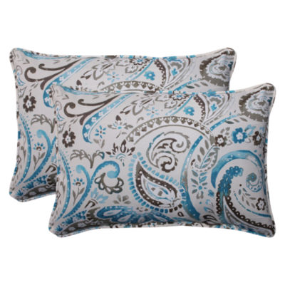 Pillow Perfect Vermilya Rectangular Outdoor Pillow- Set of 2