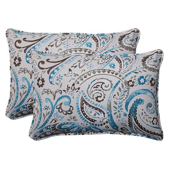 Pillow Perfect Vermilya Rectangular Outdoor Pillow- Set of 2