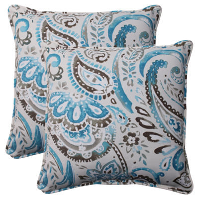 Pillow Perfect Vermilya Square Outdoor Pillow - Set of 2