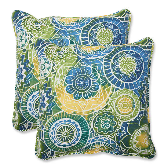 Pillow Perfect Omnia Square Outdoor Pillow Set Of 2