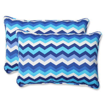 Pillow Perfect Panama Wave Rectangular Outdoor Pillow - Set of 2