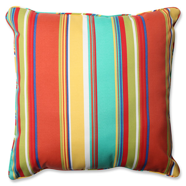 Pillow Perfect Westport Spring Square Outdoor Floor Pillow