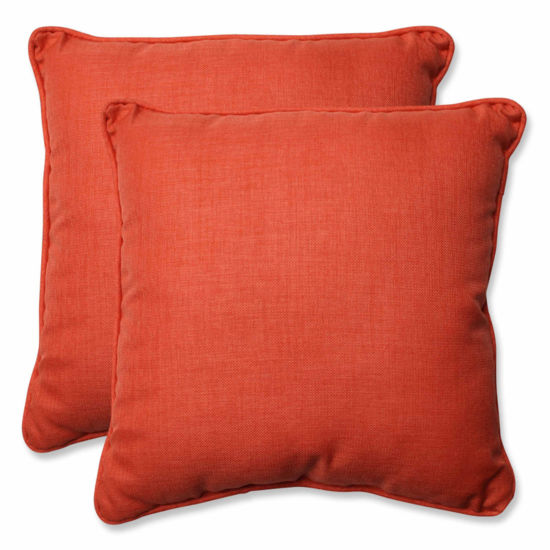 Pillow Perfect Rave Square Outdoor Pillow - Set of2