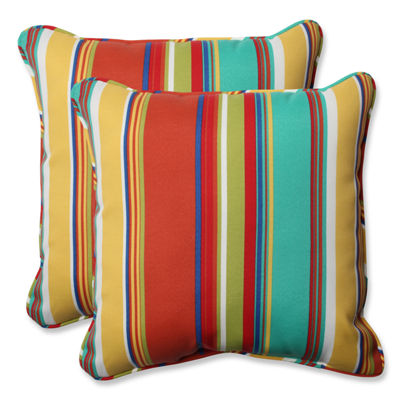 Pillow Perfect Westport Spring Square Outdoor Pillow - Set of 2