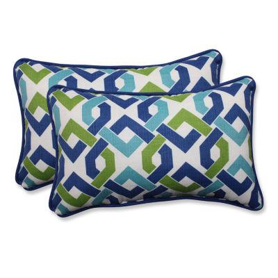 Pillow Perfect Reiser Rectangular Outdoor Pillow -Set of 2