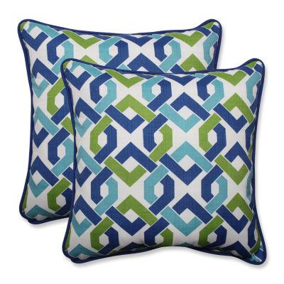 Pillow Perfect Reiser Square Outdoor Pillow - Setof 2