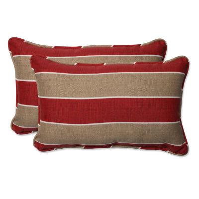 Pillow Perfect Wickenburg Rectangular Outdoor Pillow - Set of 2