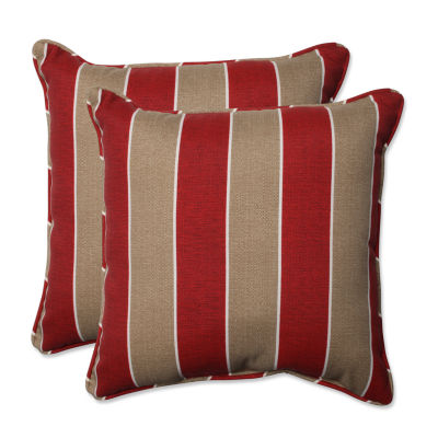 Pillow Perfect Wickenburg Square Outdoor Pillow -Set of 2