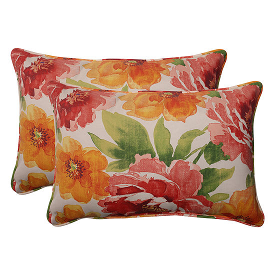 Pillow Perfect Primro Rectangular Outdoor Pillow -Set of 2