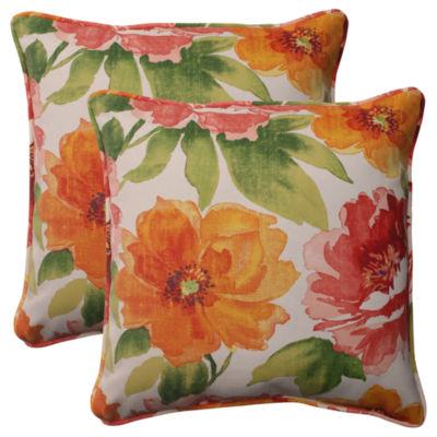 Pillow Perfect Primro Square Outdoor Pillow - Setof 2