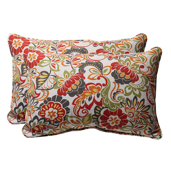 Pillow Perfect Zoe Rectangular Outdoor Pillow - Set of 2