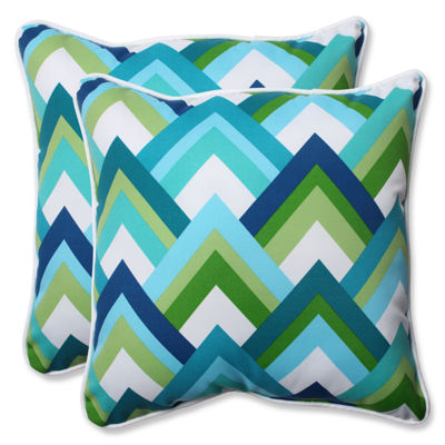 Pillow Perfect Resort Square Outdoor Pillow - Setof 2